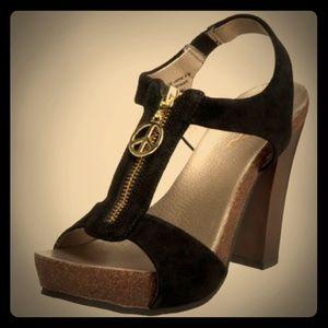 M.I.A Purple Suede Boho Platform Sandal